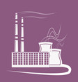 big factory plant with emissions smoke air pipe vector image vector image
