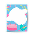 birthday card design good for girls in a4 size vector image