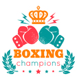 boxing champions crown color vector image vector image