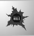 bullet hole banner design element torn metal vector image vector image