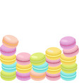 cake macaron or macaroon vector image vector image