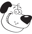 Cartoon Dog Head vector image vector image