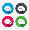 Chat speech bubbles Free wifi sign vector image vector image