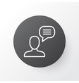 chatting icon symbol premium quality isolated vector image