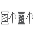 clothing repair line and glyph icon sewing and vector image