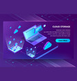 cloud storage isometric concept background vector image