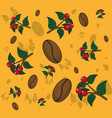 coffee patterns background vector image