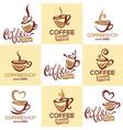 coffee shop collection logo template vector image vector image