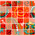 colorful seamless pattern with ornament and vector image vector image