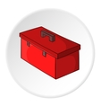 Construction suitcase icon cartoon style vector image