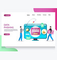 data phishing website landing page design vector image