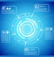 digital futuristic interactive infographics vector image vector image