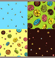 donut patterns vector image