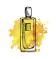 drawing perfume bottle vector image vector image