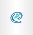 e letter stylized logo icon e vector image vector image