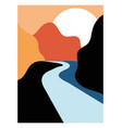 elegant poster with landscape vector image vector image