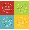 Emoji emoticons icons vector image