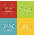 Emoji emoticons icons vector image vector image