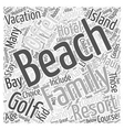 Family Beach Vacation Ideas Word Cloud Concept vector image vector image