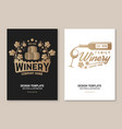 family winery badge poster flyer template card vector image