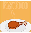 fast food chicken vector image