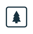 fir-tree icon Rounded squares button vector image vector image