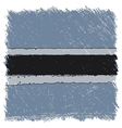 Flag of Botswana handmade square shape vector image
