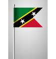 Flag of Saint Kitts and Nevis National Flag vector image