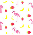 flamingo summer seamless texture vector image vector image