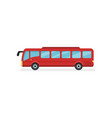 flat icon of red city bus motor vehicle vector image