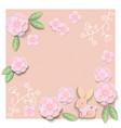 floral card template with blank or empty field vector image vector image
