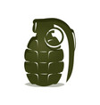 green grenade icon vector image