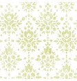 Green textile damask flower seamless pattern vector image
