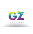 gz g z colorful letter origami triangles design vector image vector image
