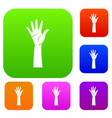 hand set collection vector image vector image