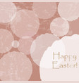 happy easter card template with pastel blue vector image