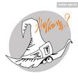hat sticker vector image vector image