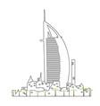 isolated dubai cityscape vector image vector image