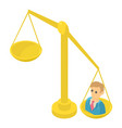 libra icon isometric 3d style vector image vector image