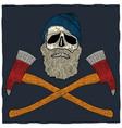 lumberjack skull poster vector image vector image