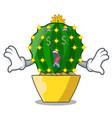 money eye cartoon mammillaria humboldtii cactus at vector image