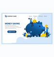 money saving concept with a woman sitting vector image vector image