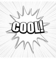 monochrome comic explosive template vector image vector image