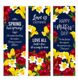 mother day flower banner for spring holiday design vector image