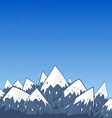 mountain landscape with snow top and stars vector image