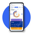 online banking mobile apps ui ux gui set vector image vector image