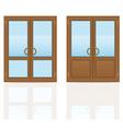 plastic doors 07 vector image vector image