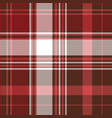 red check plaid textile seamless pattern vector image vector image