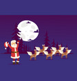 refined santa claus deer with white wings vector image