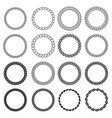 round rope shapes circle nautical frame vector image vector image